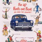 1947 Ford's Out Front All Over the Country Original Vintage Automobile Advertisement