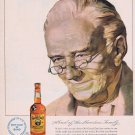 1949 Old Grand-Dad Bourbon Whiskey Original Vintage Advertisement Bottled in Bond