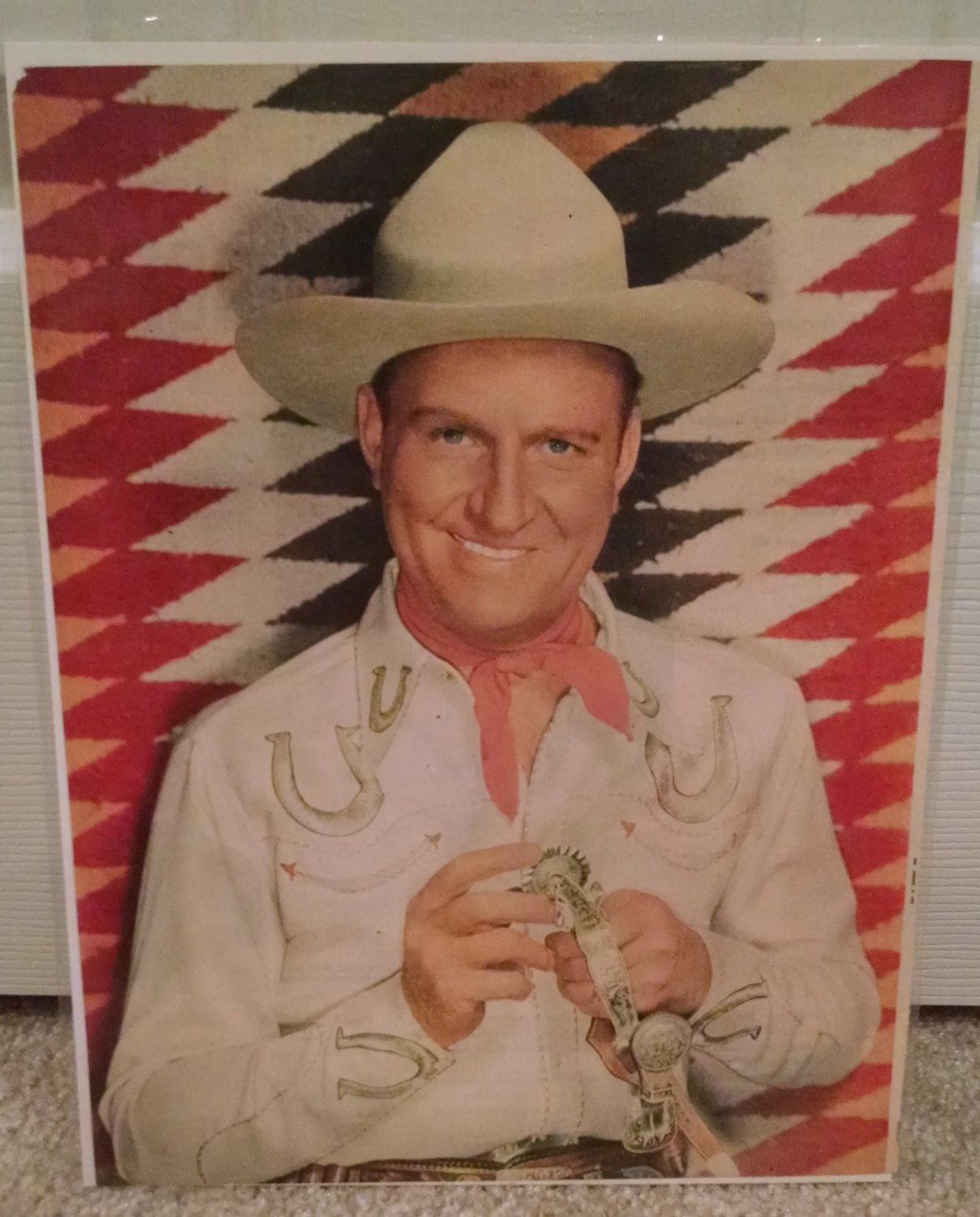 GENE AUTRY 1949 Magazine Picture in Classic Cowboy Pose