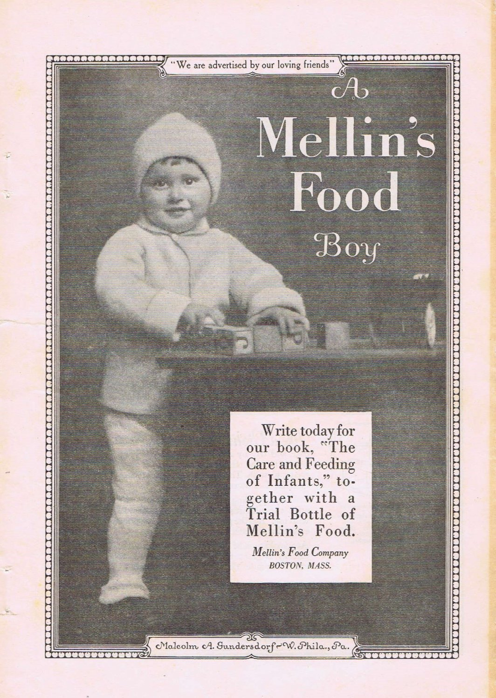 Mellins Food Boy 1924 Adorable Original Vintage Advertisement