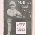 Mellins Food Boy 1924 Adorable Original Vintage Advertisement
