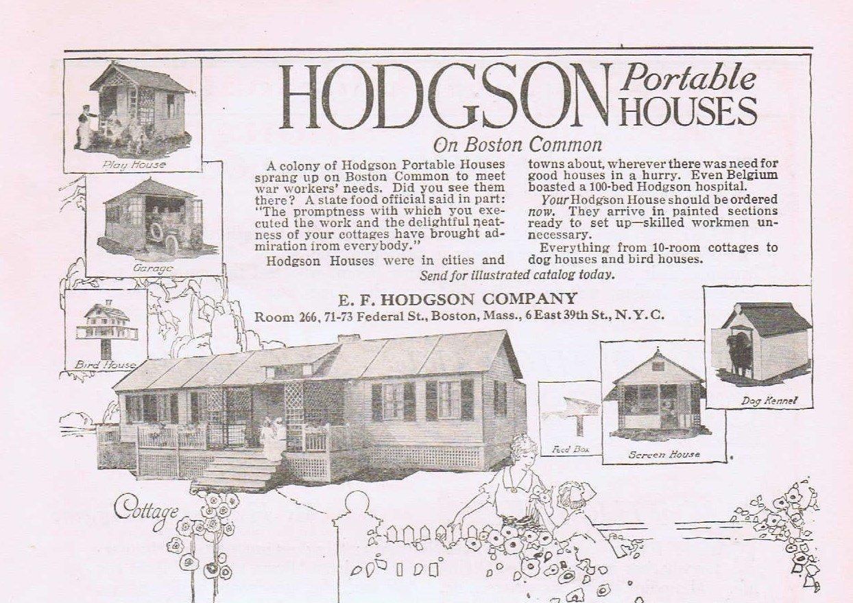 1920 Hodgson Portable House on Boston Common Original Vintage Advertisement