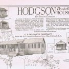 1920 Hodgson Portable House on Boston Common Original Vintage Advertisement