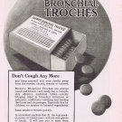1920  Browns Bronchial Troches or Cough Drops Original Vintage Advertisement