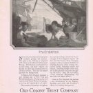 1920 Old Colony Trust Co Original Vintage Advertisement Salem in 1800