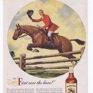 1946 U.S. Hunter Blended Whiskey Original Vintage Advertisement with Jumping Horse