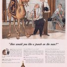 1942 Paul Jones Whiskey with PJ Camel Original Vintage Ad at Bowling Alley