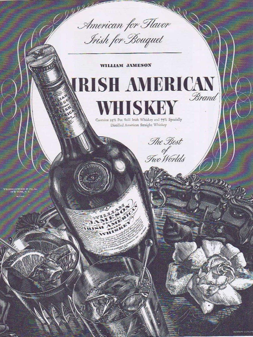 1937 William Jameson Irish American Whiskey Original Vintage Advertisement