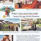 1957 Panagra Pan American-Grace Airways Original Vintage Advertisement for South America