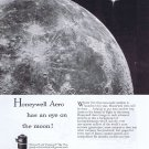 1957 Honeywell Aero Aeronautics Original Vintage Ad Eye on the Moon with First Satellite