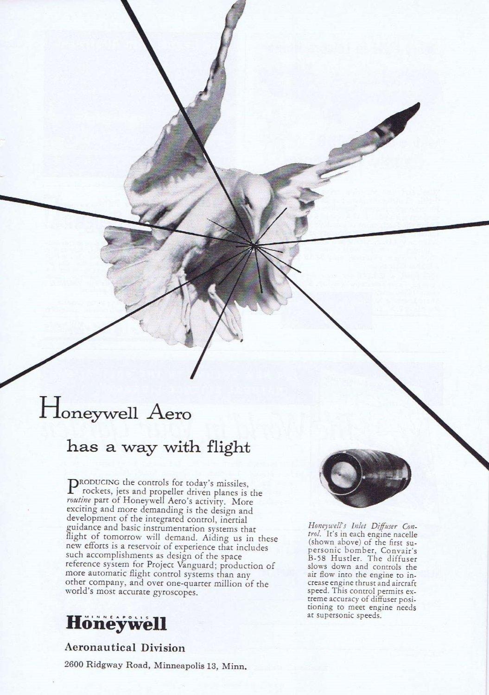 1957 Honeywell Aeronautics Original Vintage Advertisement with Inlet Diffuser Control