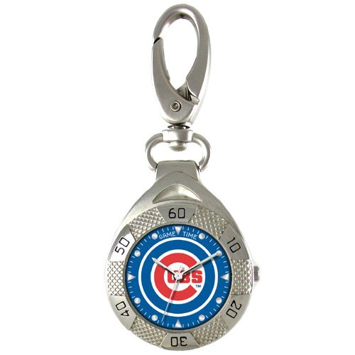 GAME TIME CHICAGO CUBS CLIP ON WATCH GRANDSTAND SERIES FREE SHIPPING LIFETIME WARRANTY
