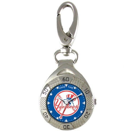 GAME TIME NEW YORK  YANKEES (TOP HAT) CLIP ON WATCH GRANDSTAND SERIES FREE SHIPPING