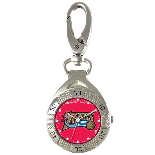 GAME TIME PHILADELPHIA 76ERS CLIP ON WATCH GRANDSTAND SERIES FREE SHIPPING LIFETIME WARRANTY