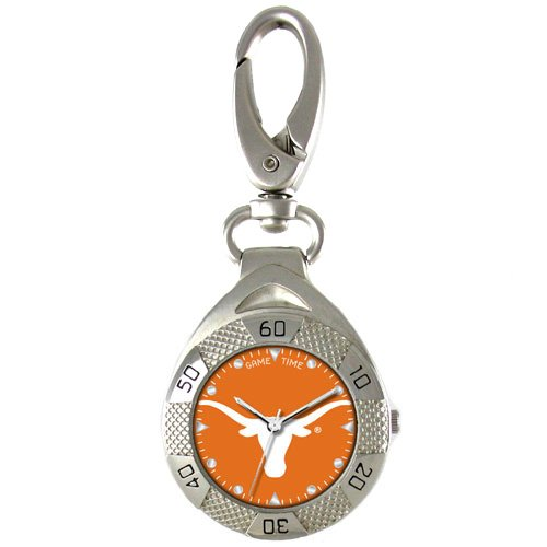 GAME TIME TEXAS LONGHORNS  CLIP ON WATCH GRANDSTAND SERIES FREE SHIPPING LIFETIME WARRANTY