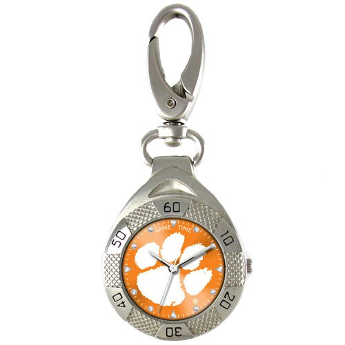 GAME TIME CLEMSON TIGERS CLIP ON WATCH GRANDSTAND SERIES FREE SHIPPING LIFETIME WARRANTY