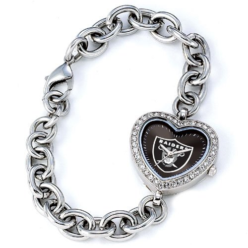 GAME TIME  OAKLAND RAIDERS HEART WATCH  FREE SHIPPING LIFETIME WARRANTY