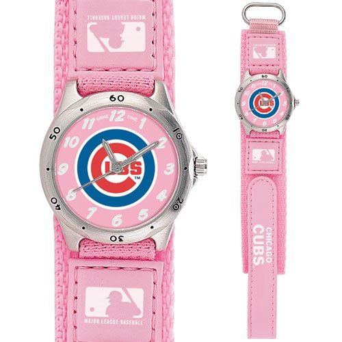 GAME TIME  CHICAGO CUBS FUTURE STAR SERIES WATCH PINK LIFETIME WARRANTY FREE SHIPPING