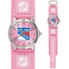 GAME TIME  NEW YORK RANGERS FUTURE STAR SERIES WATCH PINK LIFETIME WARRANTY FREE SHIPPING