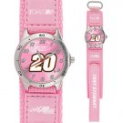 GAME TIME  TONY STEWART #20 FUTURE STAR SERIES WATCH PINK LIFETIME WARRANTY FREE SHIPPING