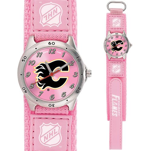 GAME TIME CALGARY FLAMES FUTURE STAR SERIES PINK WATCH FREE SHIPPING LIFETIME WARRANTY