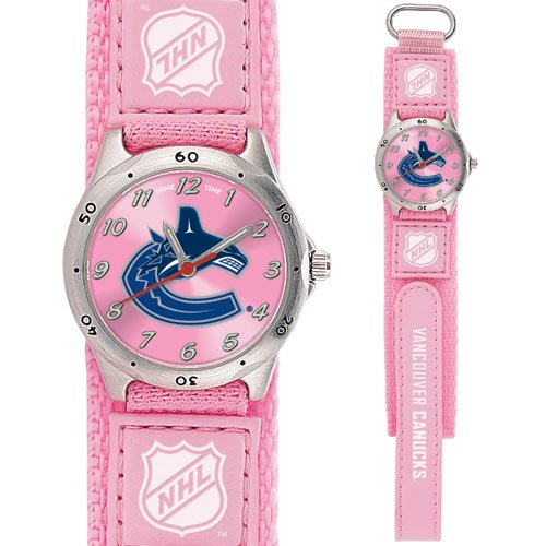 GAME TIME VANCOUVER CANUCKS FUTURE STAR SERIES PINK WATCH FREE SHIPPING LIFETIME WARRANTY