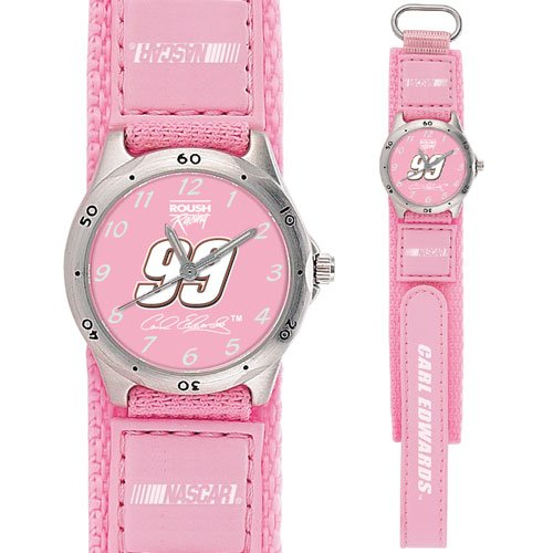 GAME TIME  #99 CARL EDWARDS  FUTURE STAR SERIES WATCH PINK LIFETIME WARRANTY FREE SHIPPING
