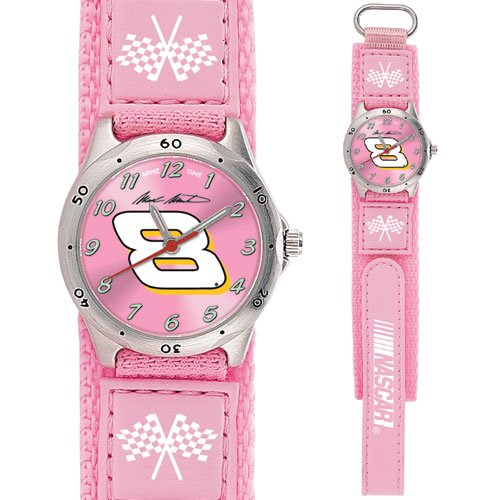 GAME TIME  #8 MARK MARTIN FUTURE STAR SERIES WATCH PINK LIFETIME WARRANTY FREE SHIPPING