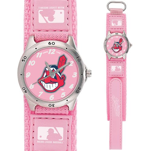 GAME TIME  CLEVELAND INDIANS FUTURE STAR SERIES WATCH PINK LIFETIME WARRANTY FREE SHIPPING