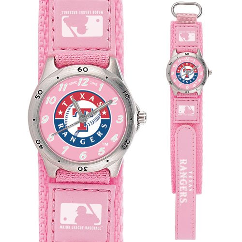 GAME TIME  TEXAS RANGERS FUTURE STAR SERIES WATCH PINK LIFETIME WARRANTY FREE SHIPPING