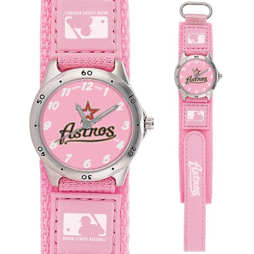 GAME TIME  HOUSTON ASTROS FUTURE STAR SERIES WATCH PINK LIFETIME WARRANTY FREE SHIPPING