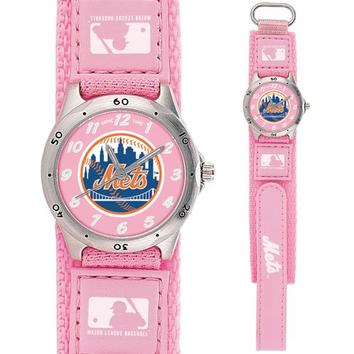 GAME TIME  NEW YORK METS FUTURE STAR SERIES WATCH PINK LIFETIME WARRANTY FREE SHIPPING