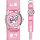 GAME TIME  WASHINGTON NATIONALS FUTURE STAR SERIES WATCH PINK LIFETIME WARRANTY FREE SHIPPING