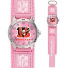 CINCINNATI BENGALS FUTURE STAR SRS PINK WATCH LIFETIME WARRANTY FREE SHIPPING