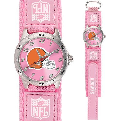 CLEVELAND BROWNS FUTURE STAR SERIES PINK WATCH LIFETIME WARRANTY FREE SHIPPING
