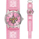 NEW ORLEANS SAINTS FUTURE STAR SERIES PINK WATCH LIFETIME WARRANTY FREE SHIPPING
