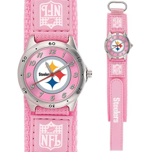 PITTSBURGH STEELERS FUTURE STAR SERIES PINK WATCH LIFETIME WARRANTY FREE SHIPPING