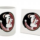 FLORIDA STATE SEMINOLES 15 OZ CLASSIC COLLECTION LOGO SERIES MUG WITH COASTER FREE SHIPPING