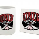 UNLV NEVADA - LAS VEGAS REBELS 15 OZ CLASSIC COLLECTION LOGO SERIES MUG WITH COASTER FREE SHIPPING