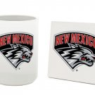 NEW MEXICO LOBOS 15 OUNCE CLASSIC COLLECTION LOGO SERIES MUG WITH MATCHING COASTER FREE SHIPPING