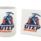 UTEP TEXAS EL PASO MINERS 15 OZ CLASSIC COLLECTION LOGO SERIES MUG WITH COASTER FREE SHIPPING