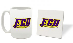 EAST CAROLINA PIRATES 15 OZ CLASSIC COLLECTION LOGO SERIES MUG WITH MATCHING COASTER FREE SHIPPING
