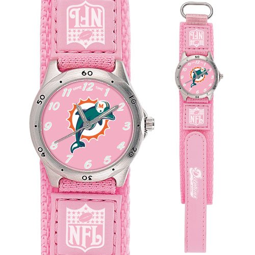 MIAMI DOLPHINS FUTURE STAR SERIES PINK WATCH LIFETIME WARRANTY FREE SHIPPING