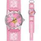 MINNESOTA VIKINGS FUTURE STAR SERIES PINK WATCH LIFETIME WARRANTY FREE SHIPPING