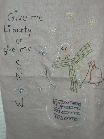 Give Me Liberty or Give Me Snow Stichery
