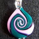 BORO HAND BLOWN ART GLASS PENDANT COIN STYLE BY JAMI