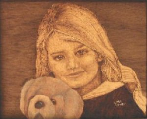 CUSTOM WOOD BURN PORTRAIT FROM YOUR PICTURE
