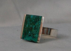 Ring Handcrafted from Genuine .950 Sterling Silver with Turquoise Stone