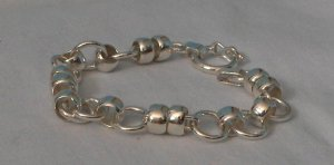 Chain Linked Bracelet - Genuine .950 Sterling Silver and Handcrafted