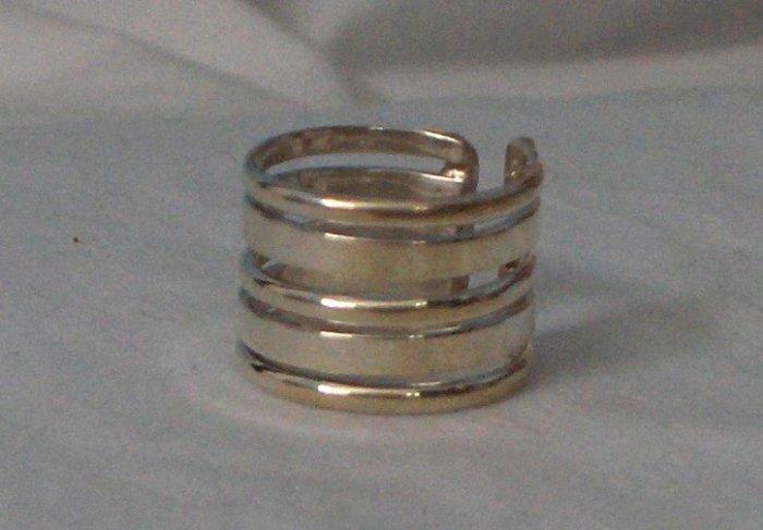 100% Guaranteed Genuine .950 Sterling Silver Adjustable Ring